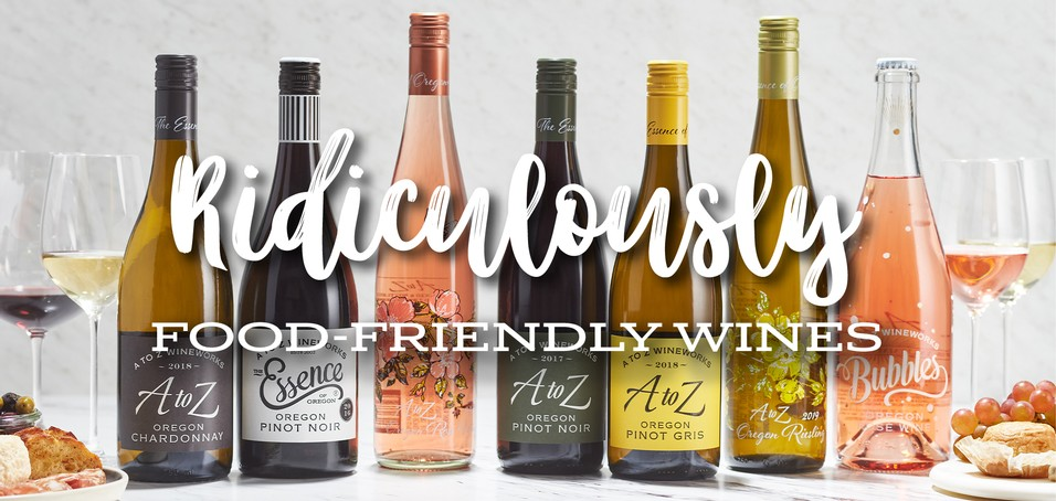 Image showing lineup of A to Z Wineworks wines on white background